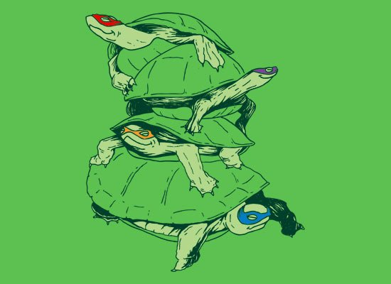 Masked Turtles on Mens T-Shirt
