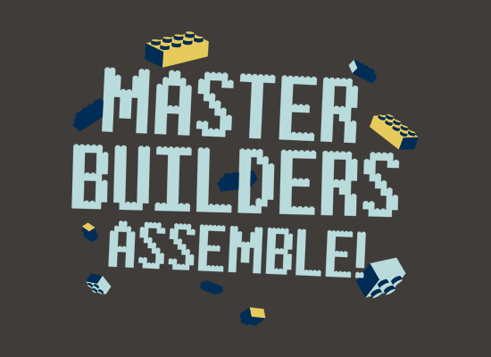 Master Builders Assemble! on Mens T-Shirt