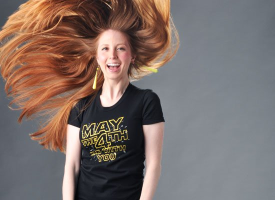 May The 4th Be With You on Juniors T-Shirt