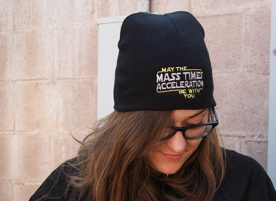 May The Mass x Acceleration Beanie on Mens Hats
