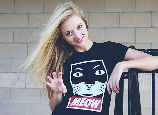 Meow on Juniors T-Shirt