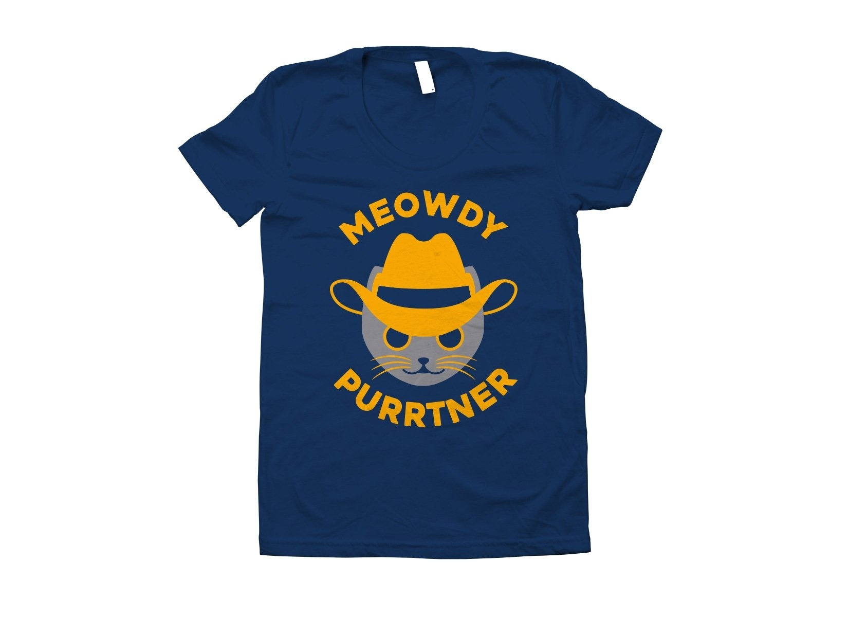 Meowdy Purrtner on Juniors T-Shirt