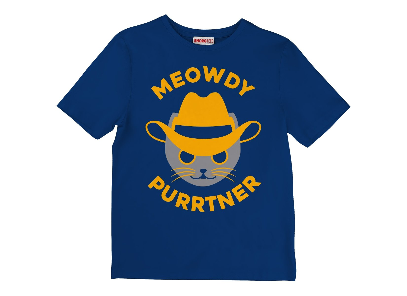 Meowdy Purrtner on Kids T-Shirt