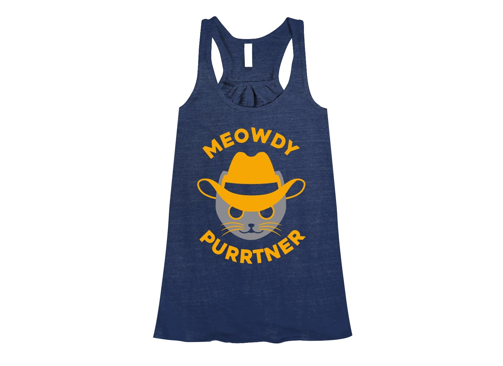 Meowdy Purrtner on Womens Tanks T-Shirt