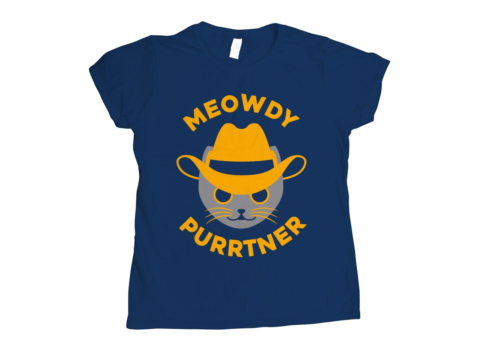 Meowdy Purrtner on Womens T-Shirt