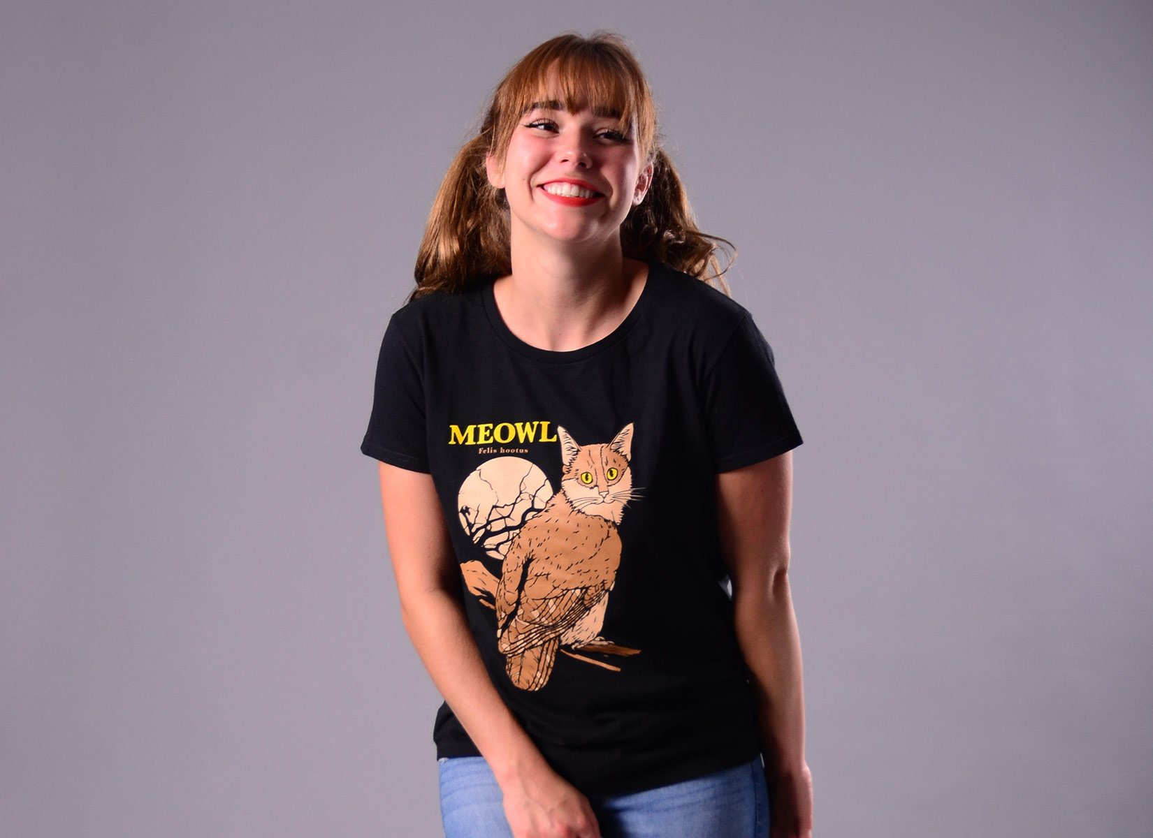 Meowl on Womens T-Shirt