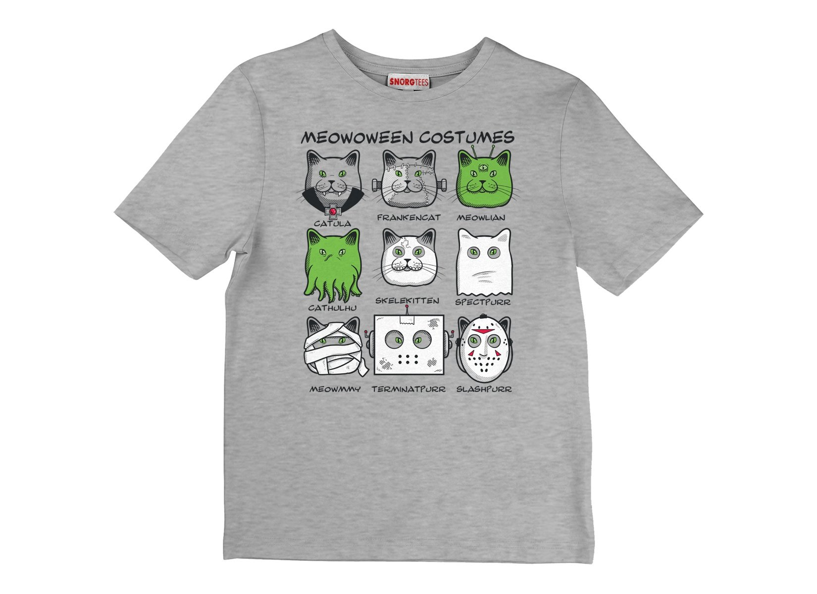 Meowoween Costumes on Kids T-Shirt