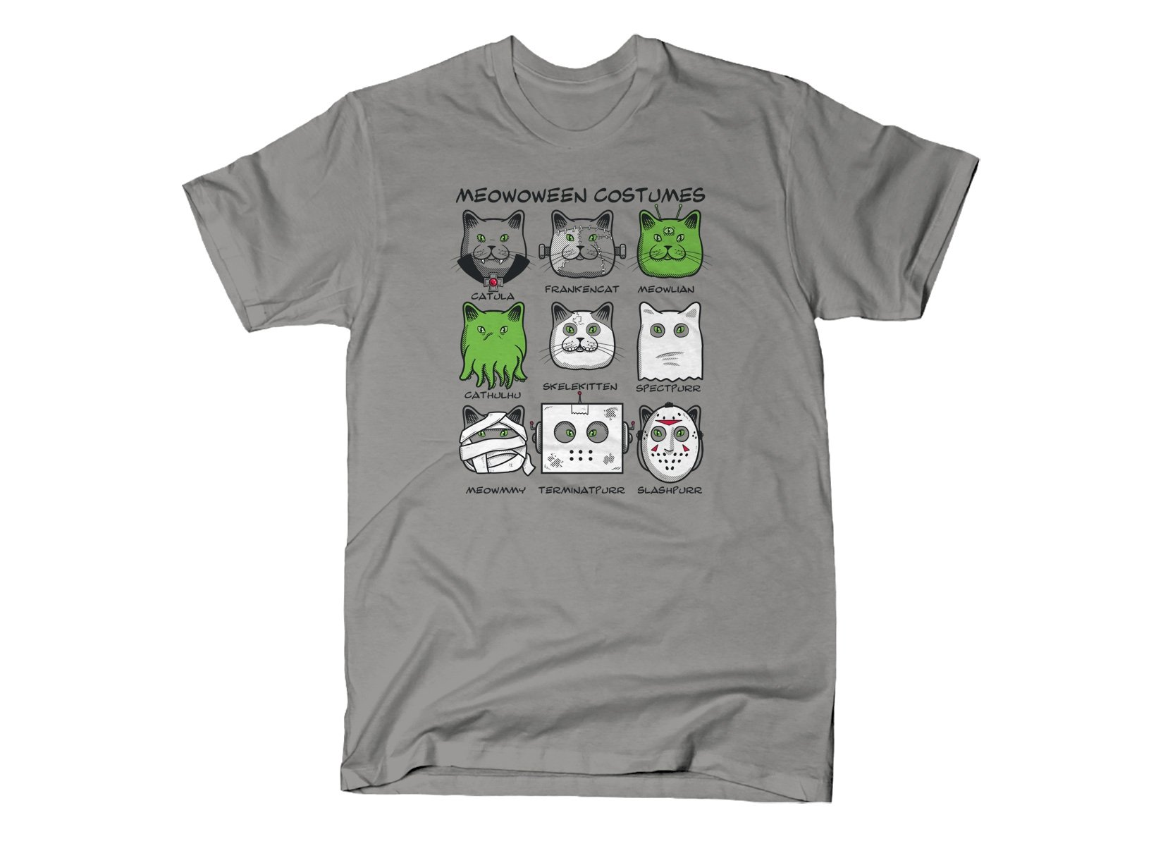 Meowoween Costumes on Mens T-Shirt