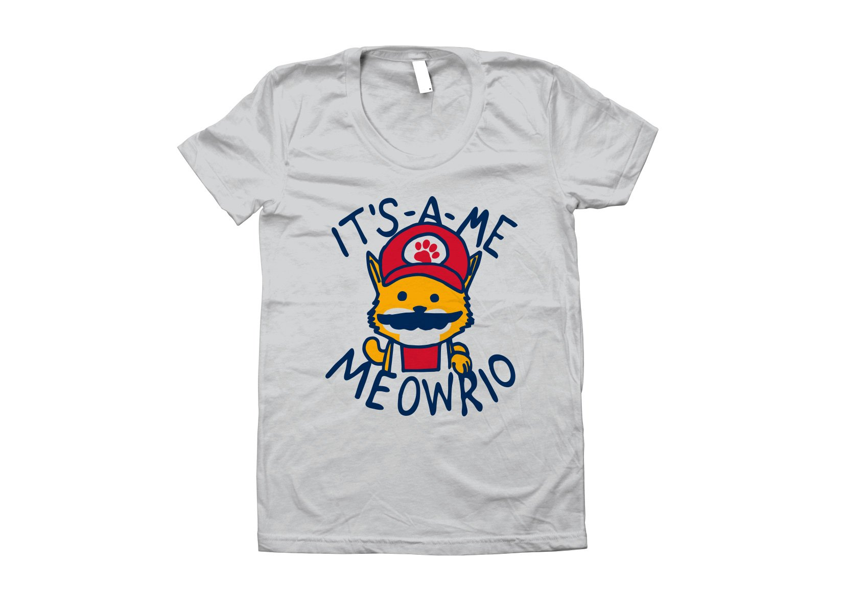 It's-a-me Meowrio on Juniors T-Shirt