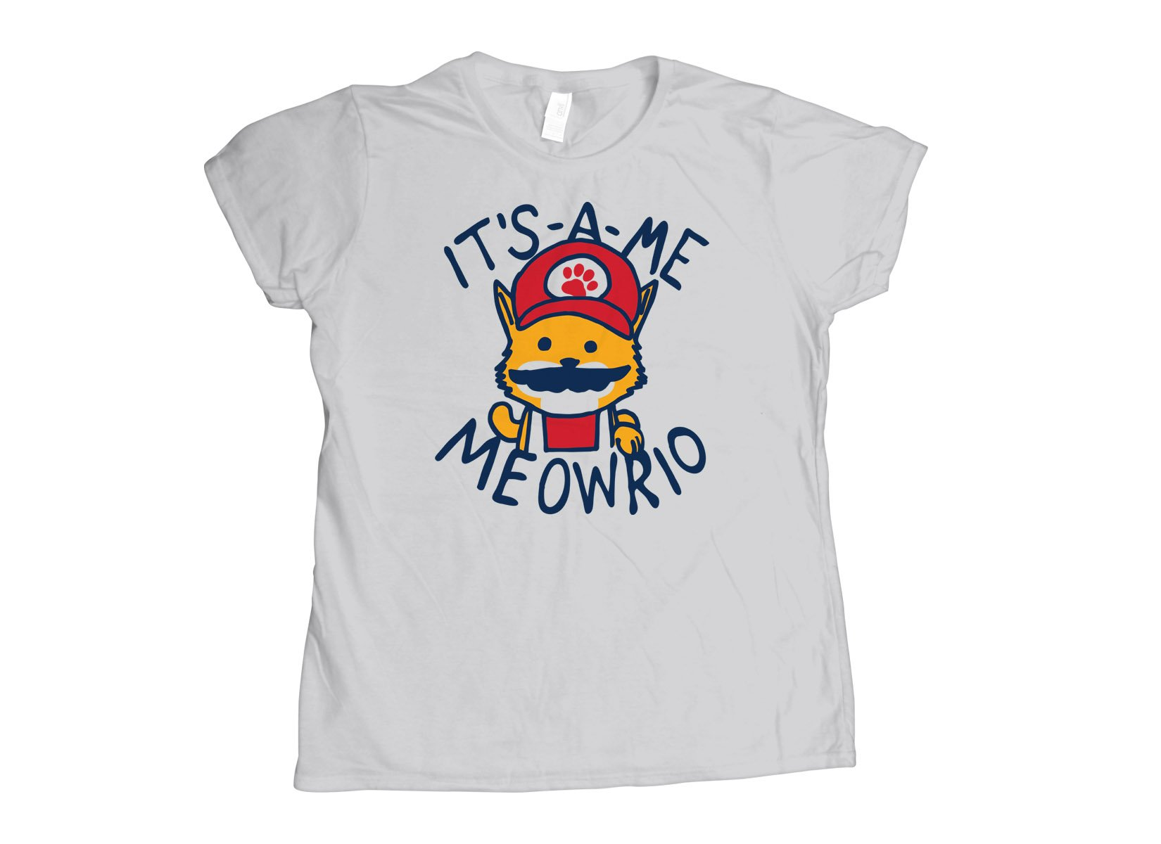 It's-a-me Meowrio on Womens T-Shirt