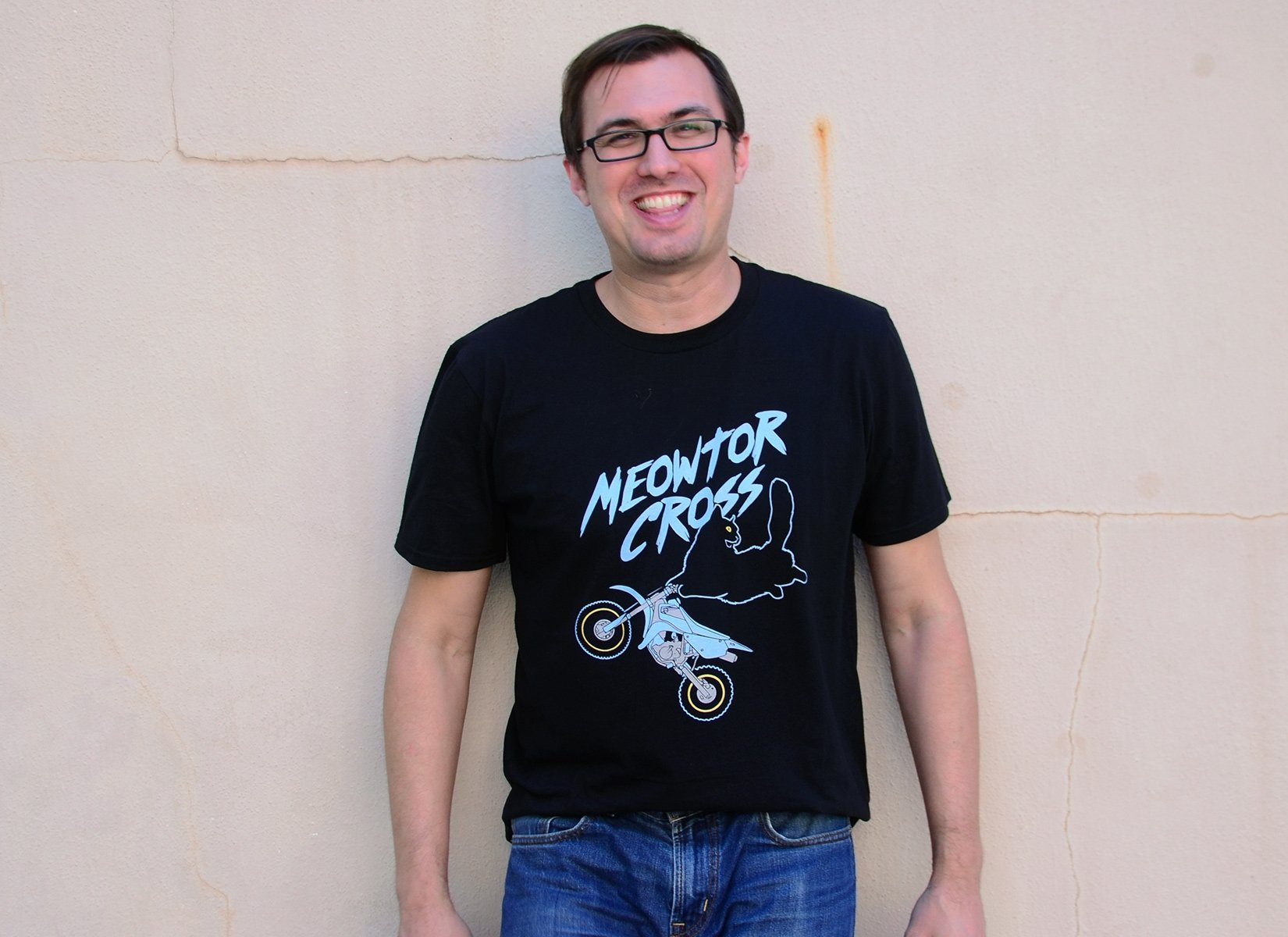 Meowtor Cross on Mens T-Shirt