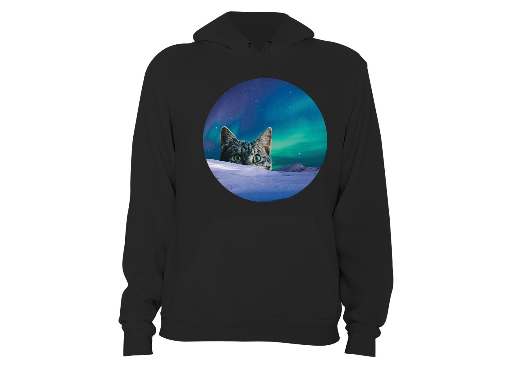 Meowthern Lights on Hoodie