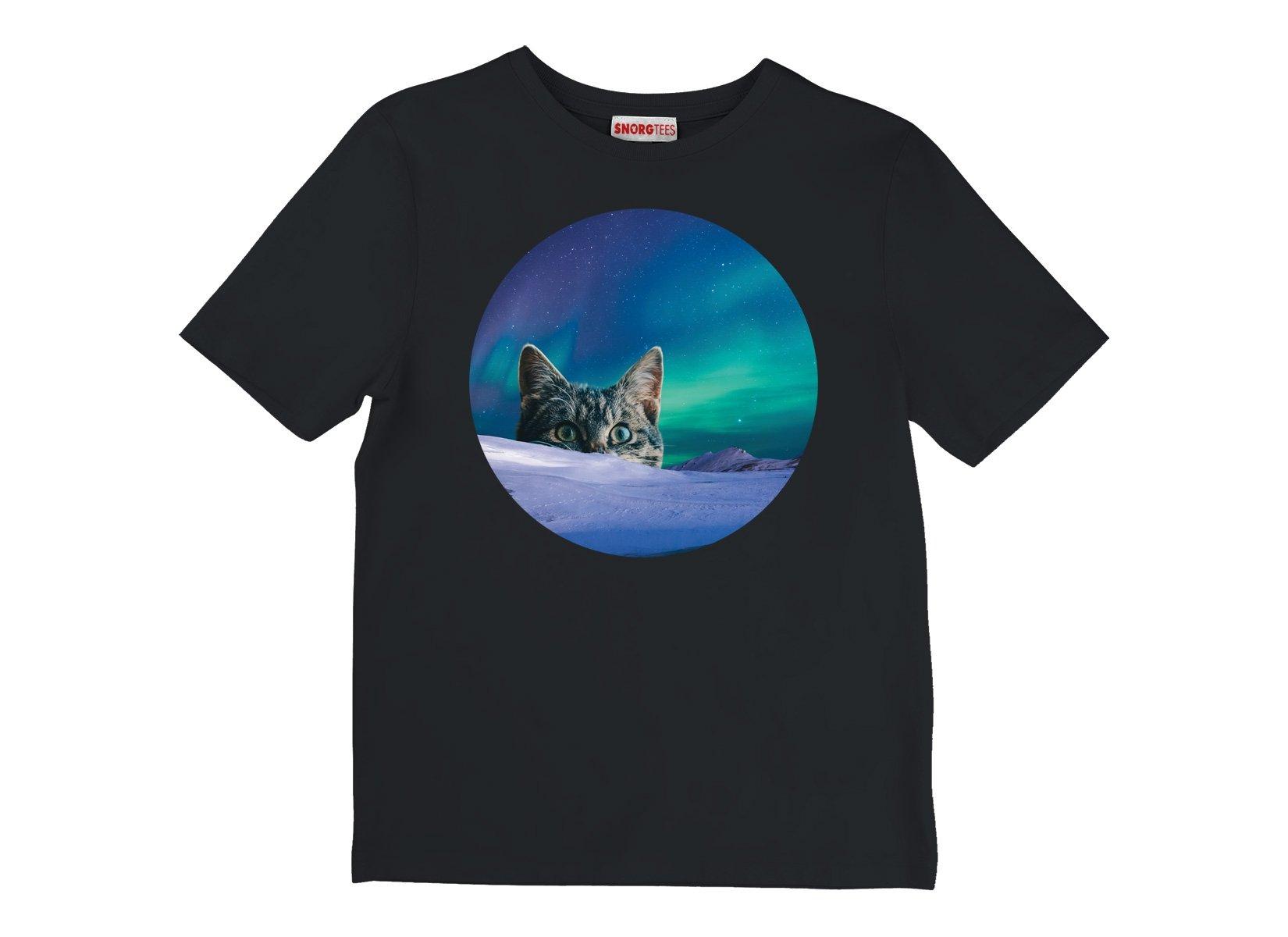 Meowthern Lights on Kids T-Shirt