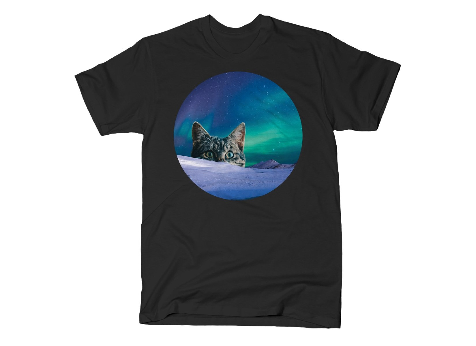 Meowthern Lights on Mens T-Shirt