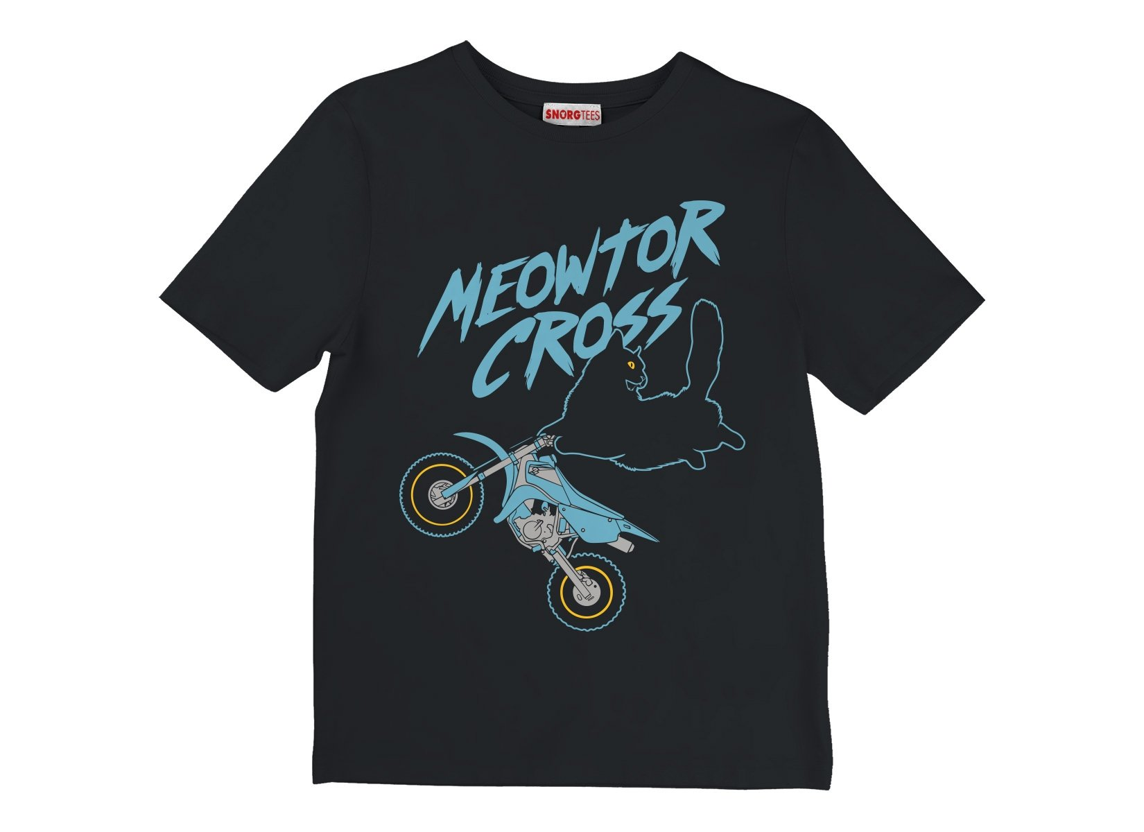 Meowtor Cross on Kids T-Shirt