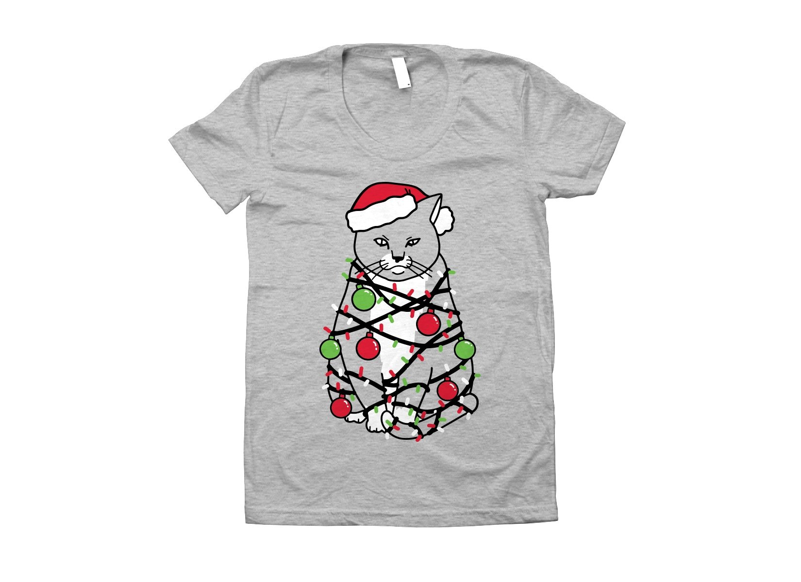 Meowy Christmas on Juniors T-Shirt