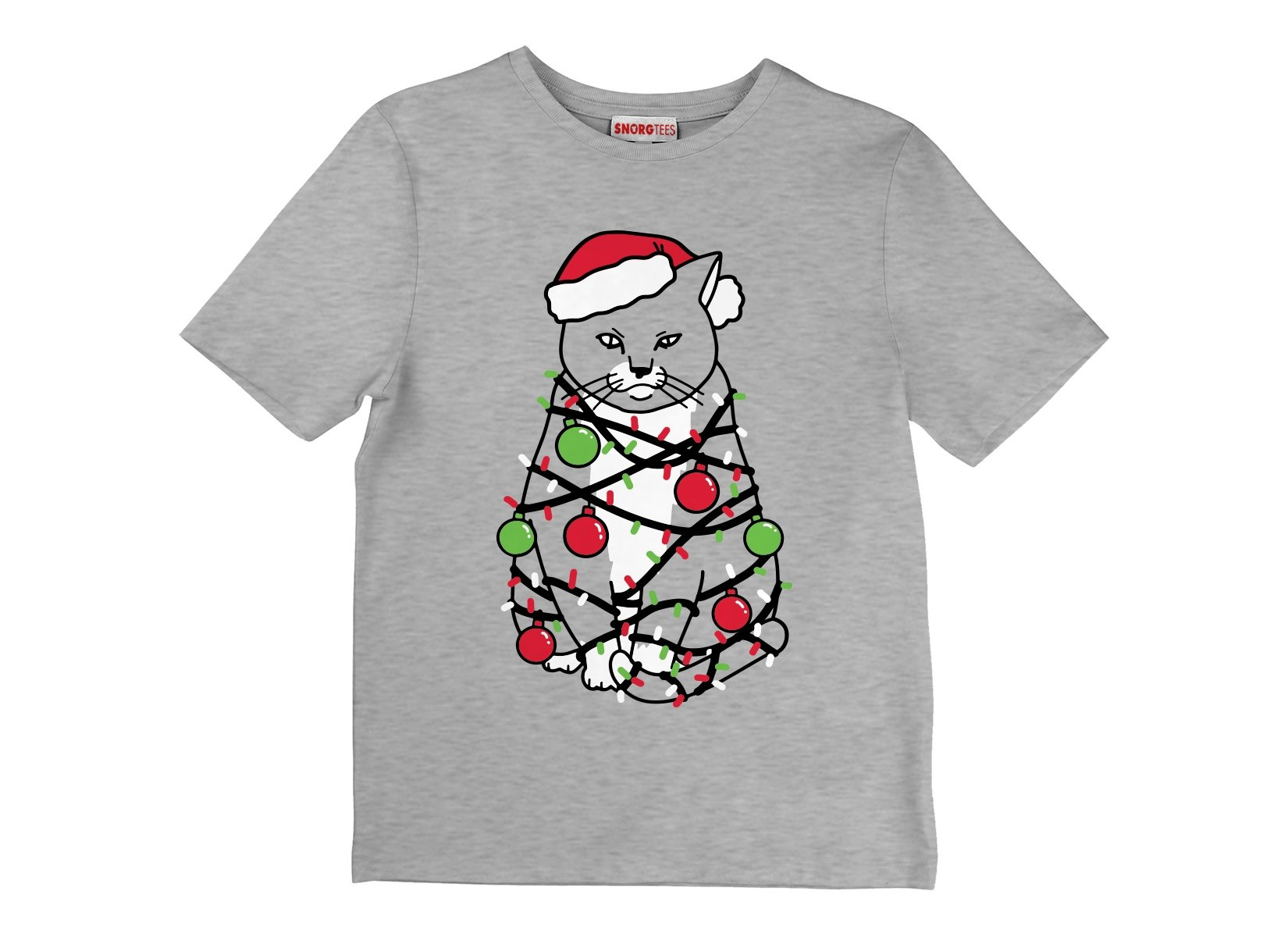 Meowy Christmas on Kids T-Shirt