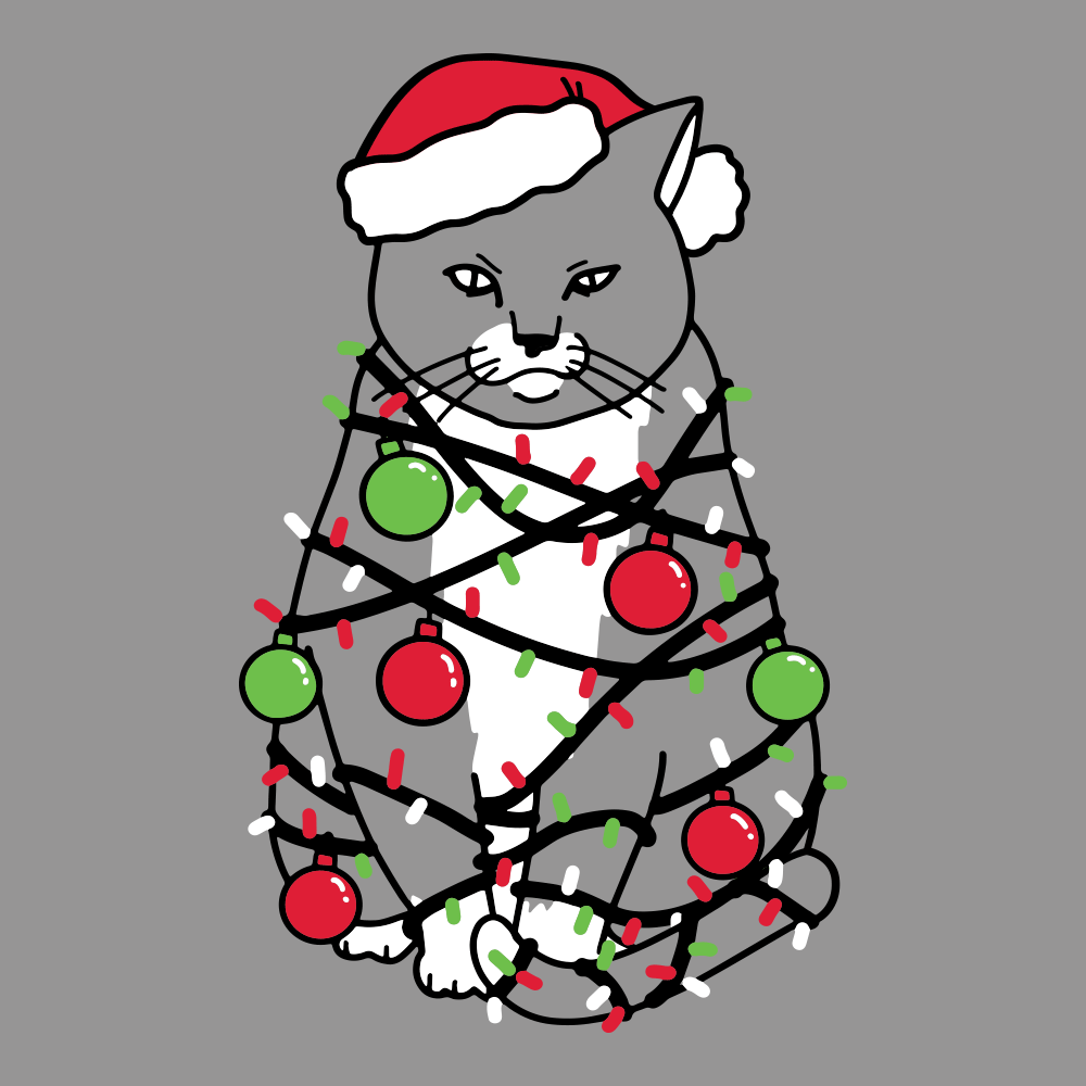Meowy Christmas.Meowy Christmas T Shirt Snorgtees