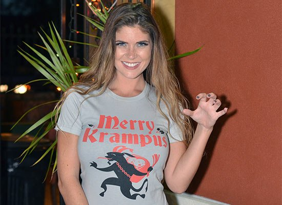 Merry Krampus on Juniors T-Shirt