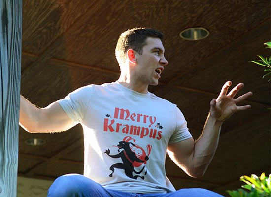 Merry Krampus on Mens T-Shirt