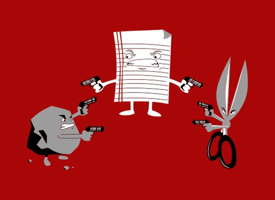 Mexican Standoff on Mens T-Shirt