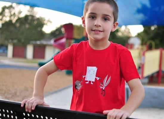 Mexican Standoff on Kids T-Shirt
