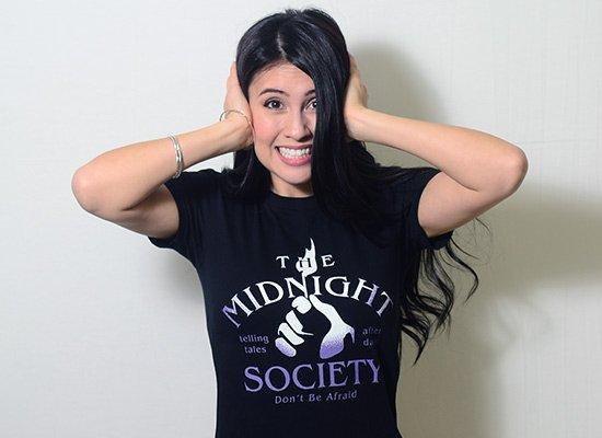 The Midnight Society on Juniors T-Shirt
