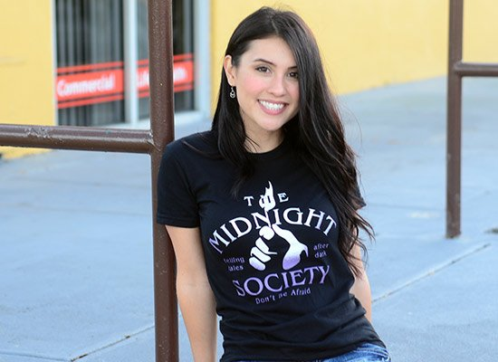 The Midnight Society on Juniors T-Shirt