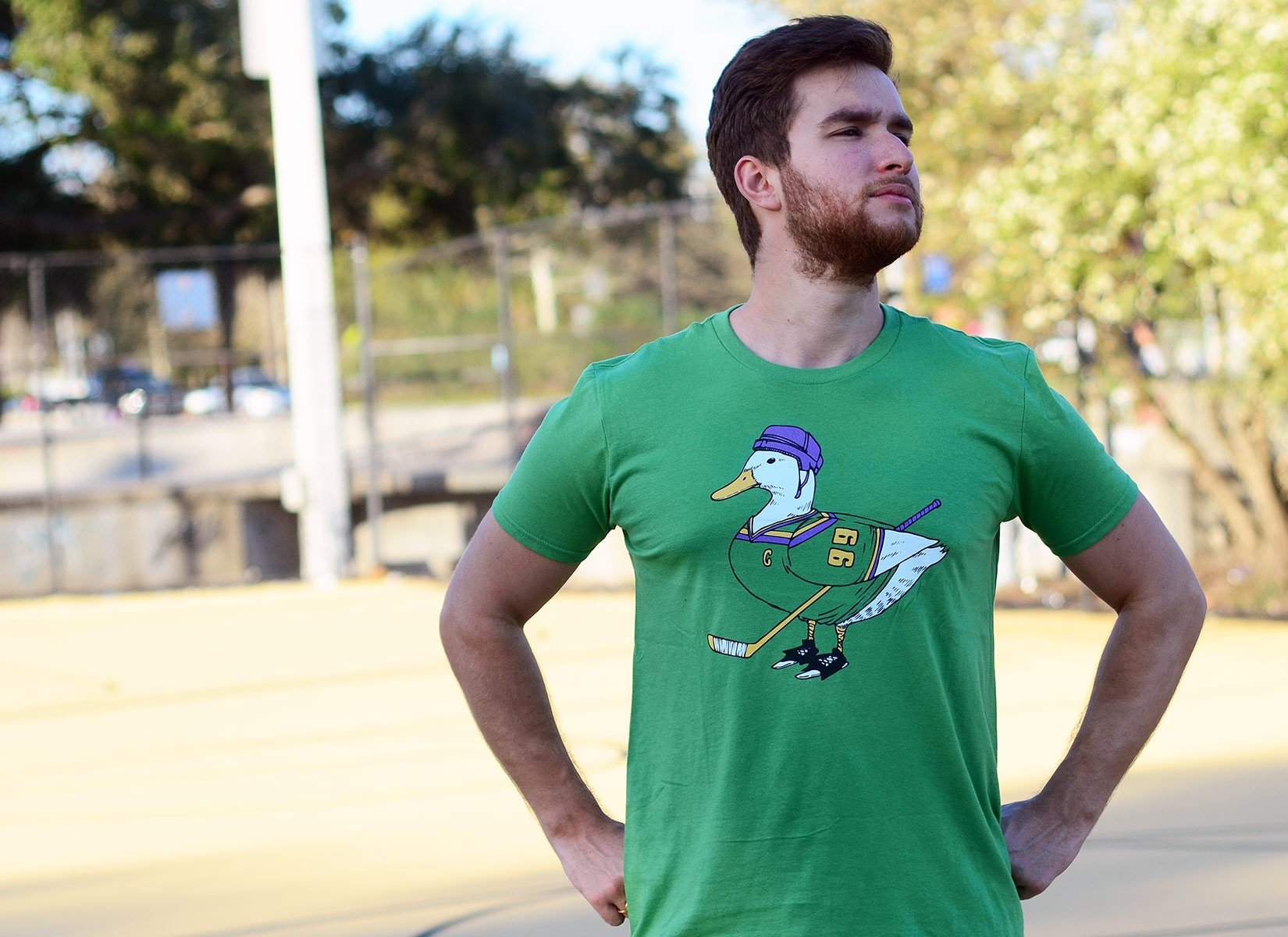 Mighty Duck on Mens T-Shirt