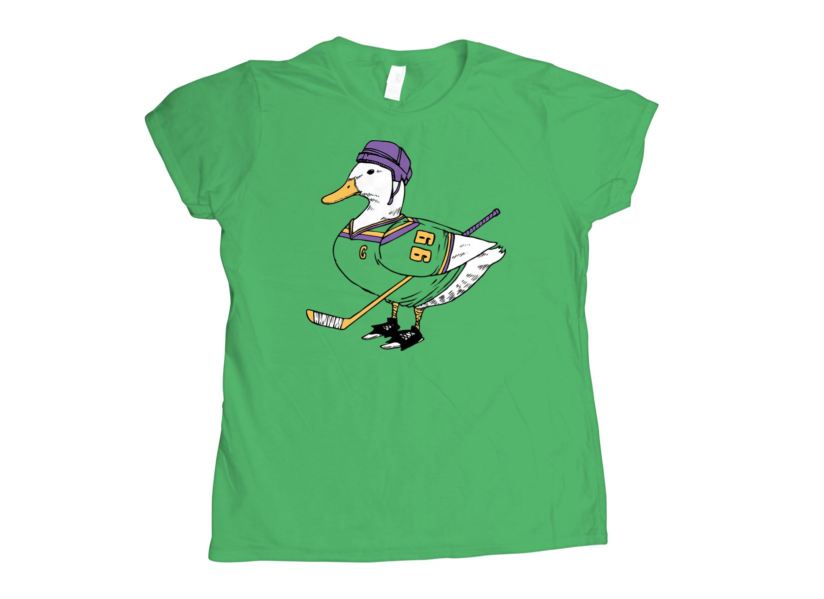 Mighty Duck on Womens T-Shirt