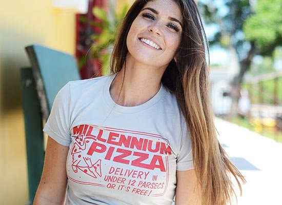 Millennium Pizza on Juniors T-Shirt