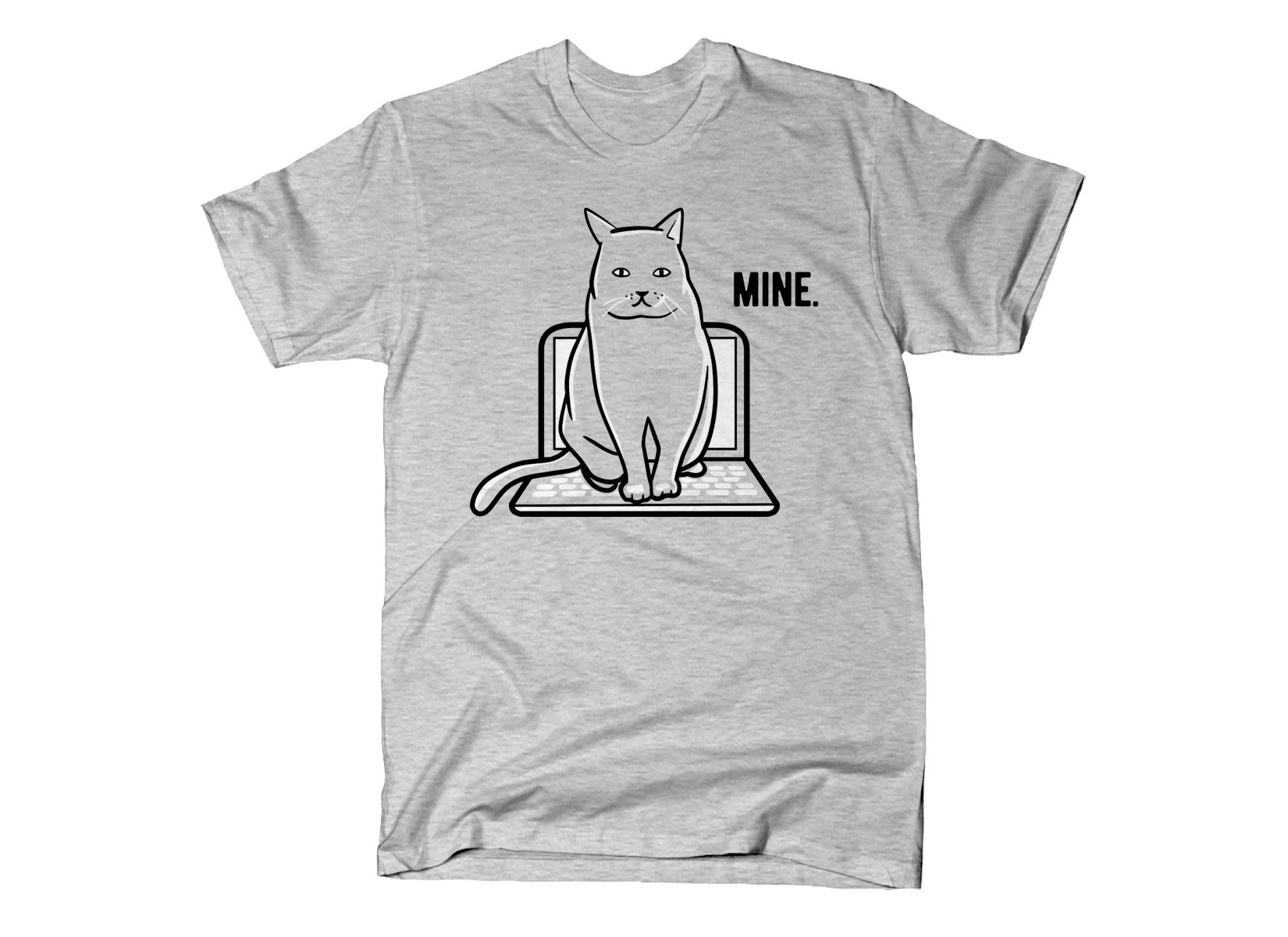 Mine Computer Cat on Mens T-Shirt
