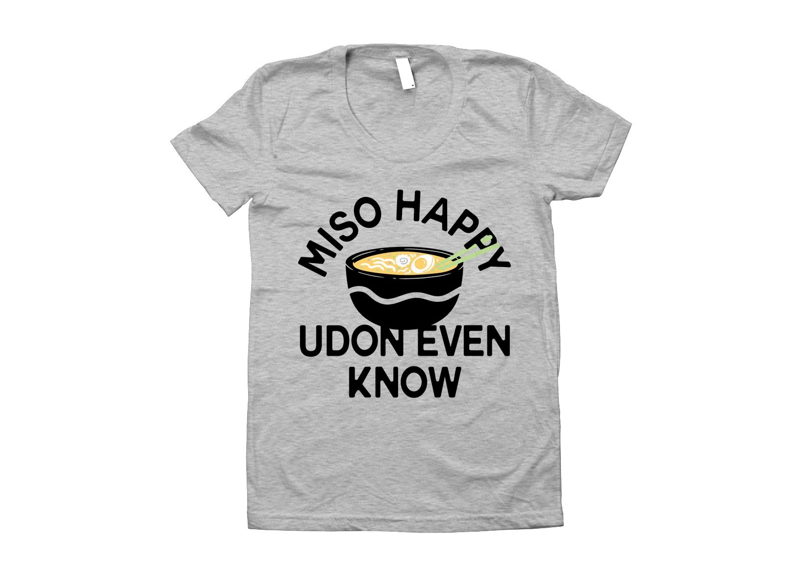 Miso Happy on Juniors T-Shirt