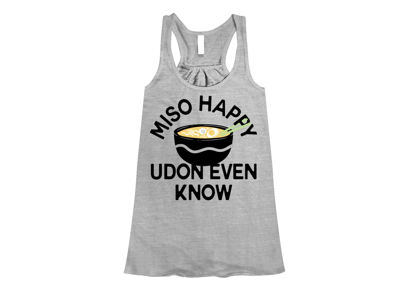 Miso Happy on Womens Tanks T-Shirt