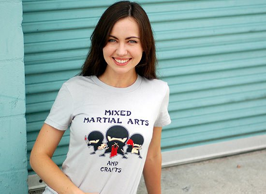 Mixed Martial Arts and Crafts on Juniors T-Shirt