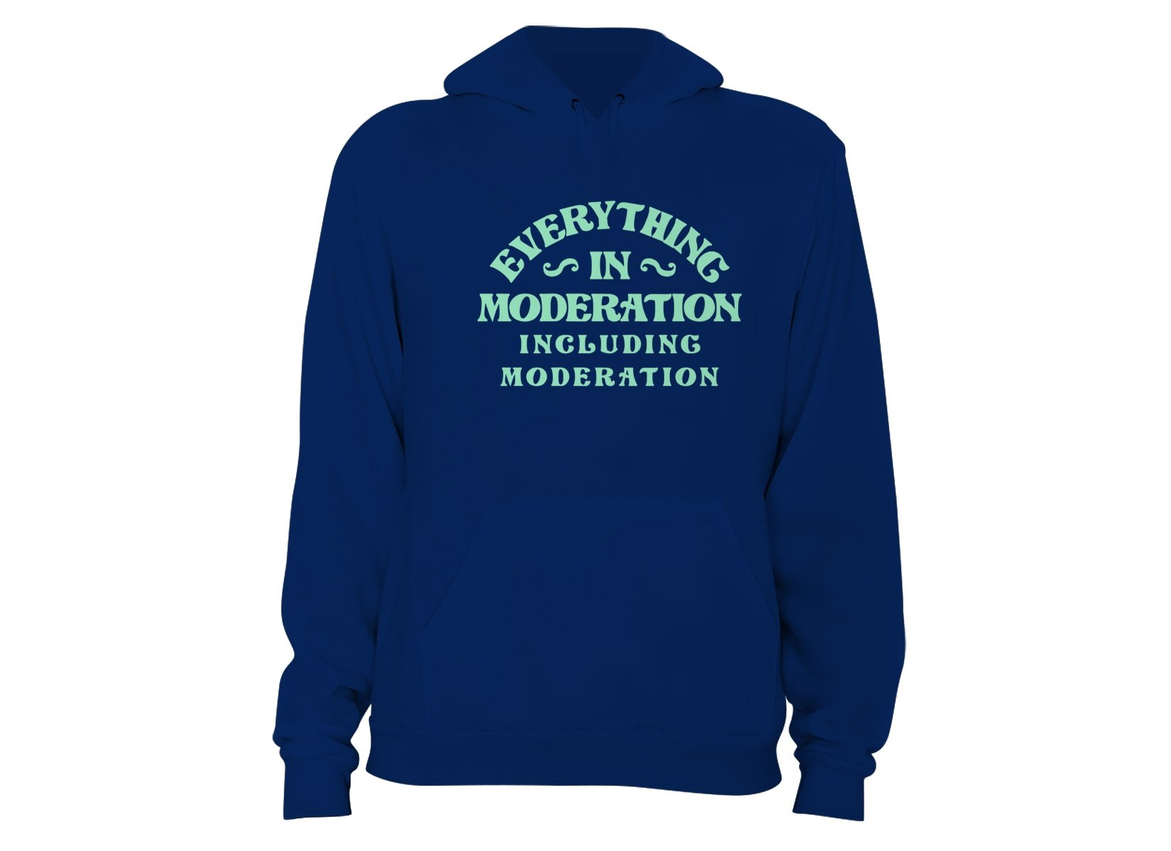 Everything In Moderation Including Moderation on Hoodie