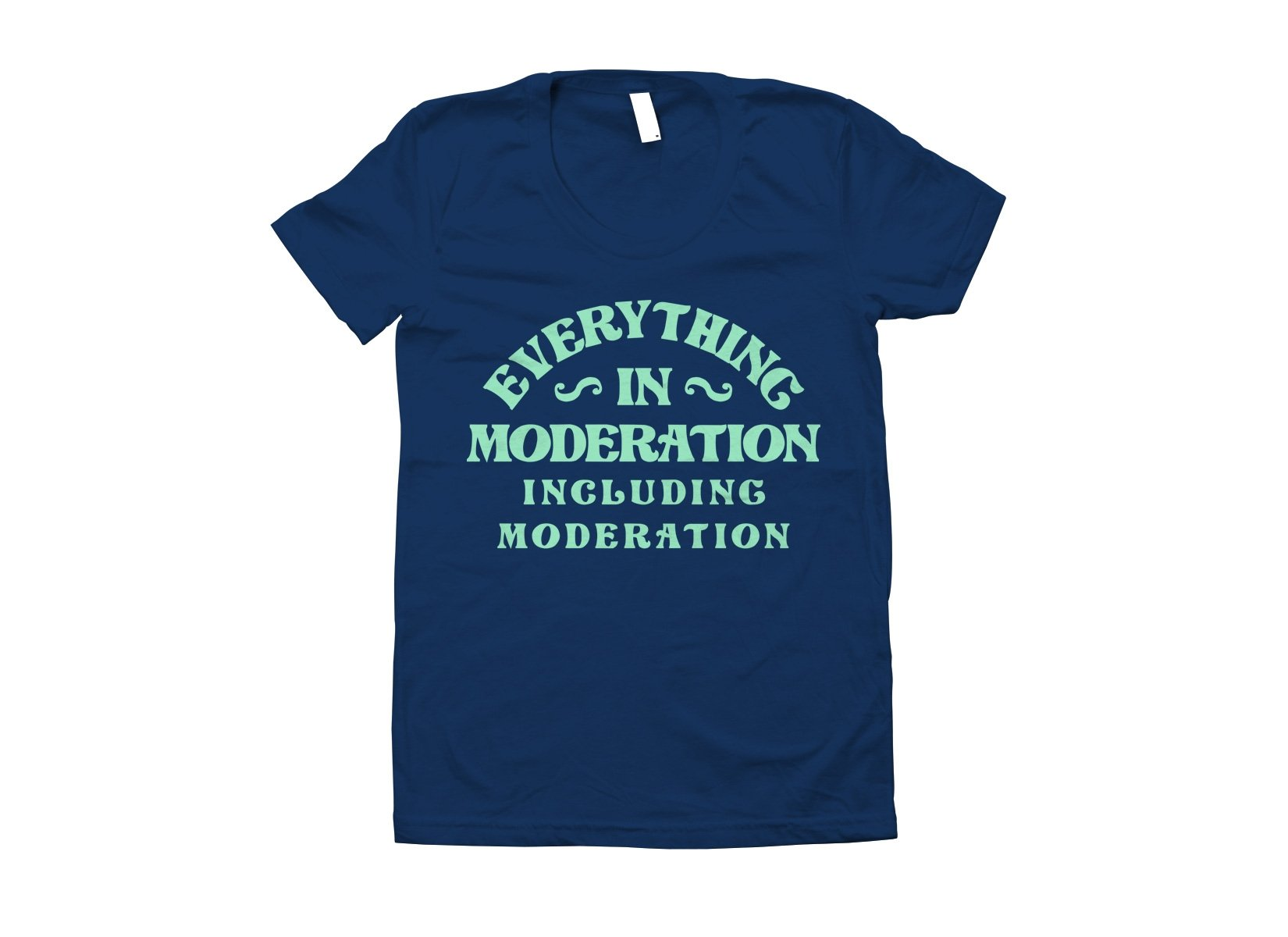 Everything In Moderation Including Moderation on Juniors T-Shirt