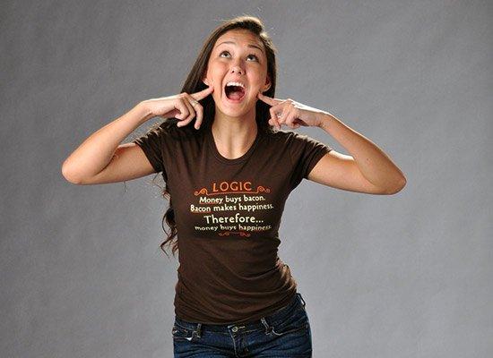 Money Buys Happiness on Juniors T-Shirt