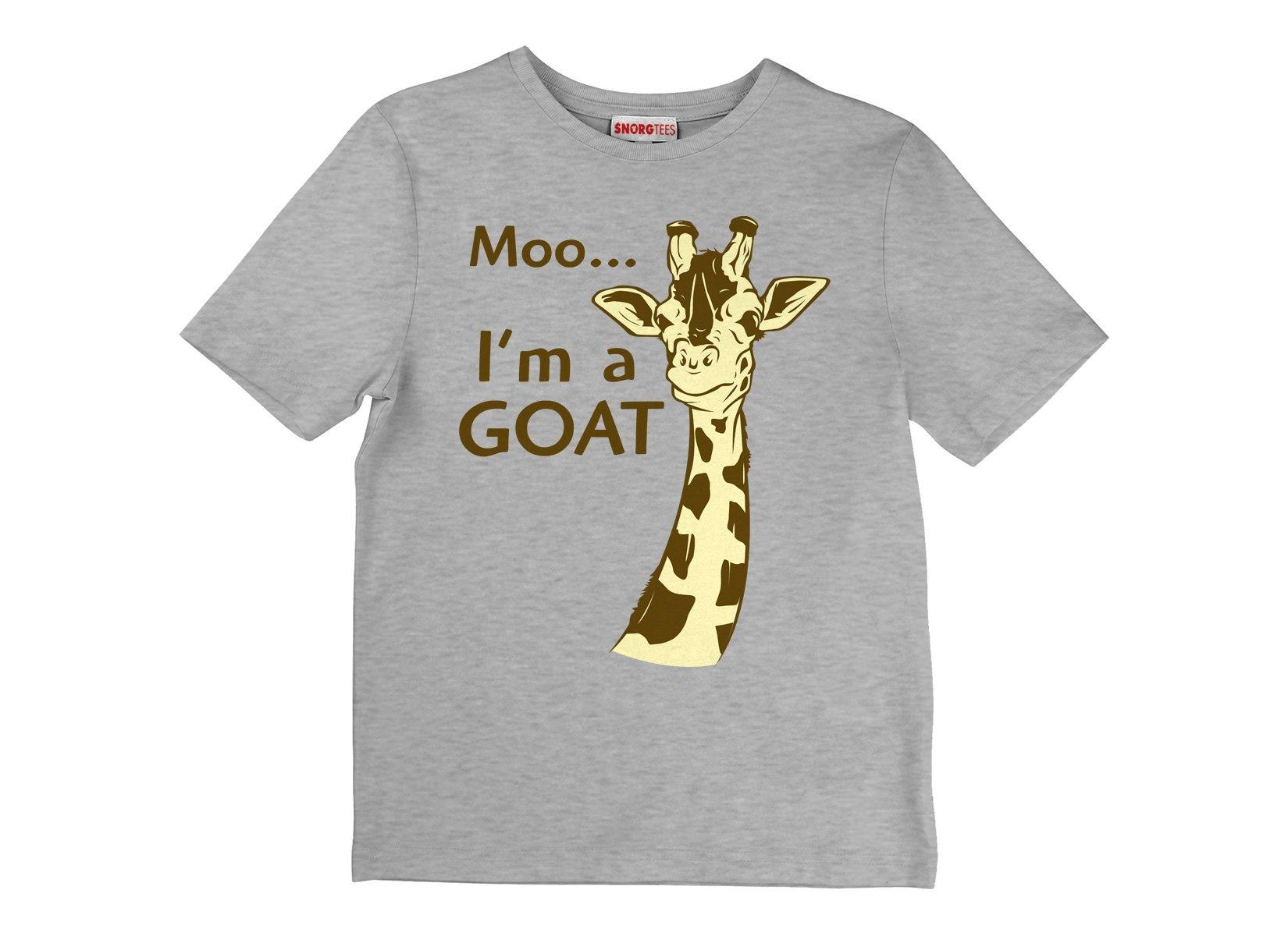 Moo, I'm A Goat on Kids T-Shirt