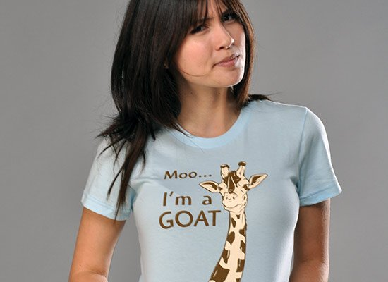 Moo, I'm A Goat on Juniors T-Shirt