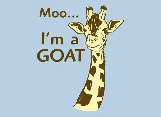 Moo, I'm A Goat on Mens T-Shirt