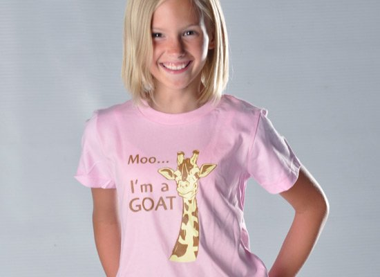 Moo, I'm A Goat on Kids T-Shirt