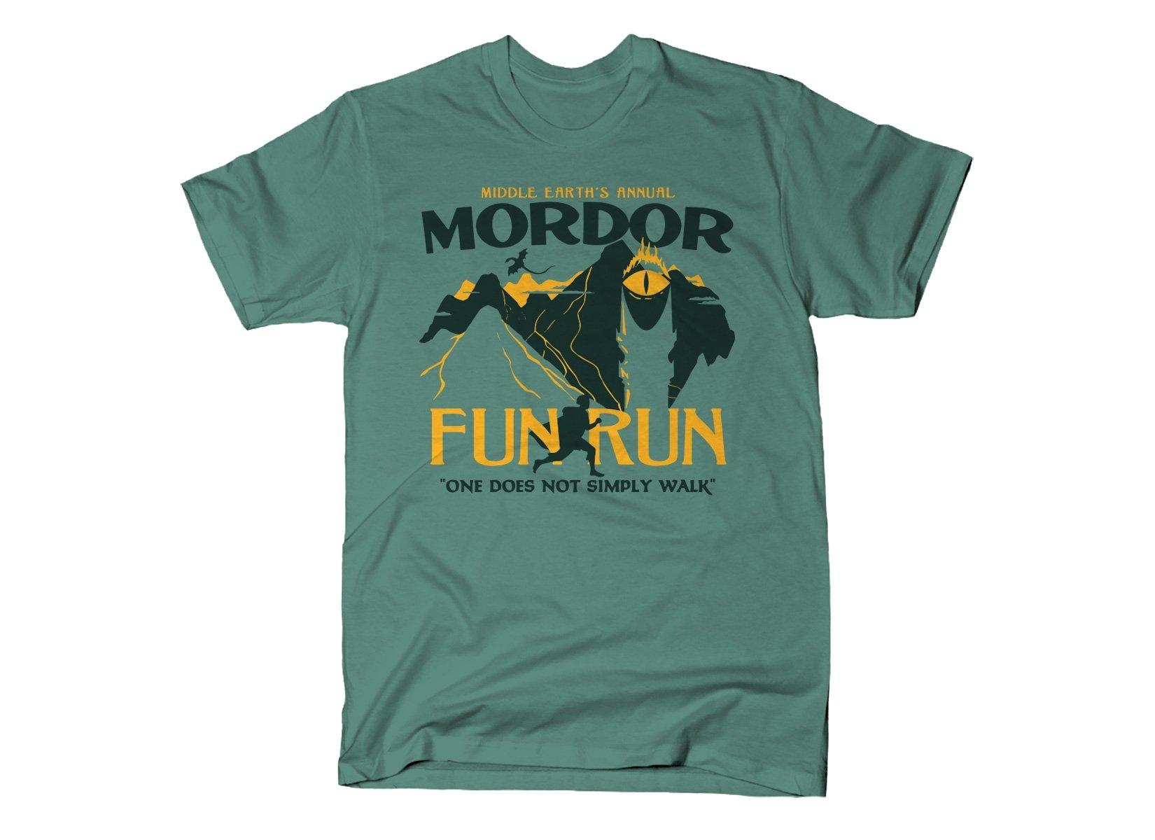 Mordor Fun Run on Mens T-Shirt