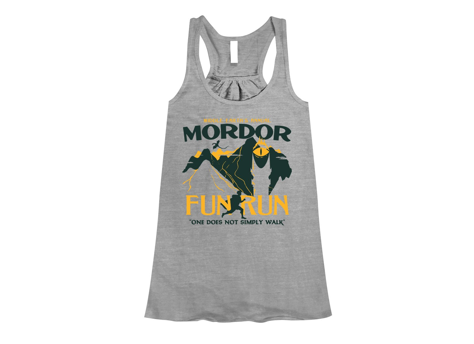 Mordor Fun Run on Womens Tanks T-Shirt