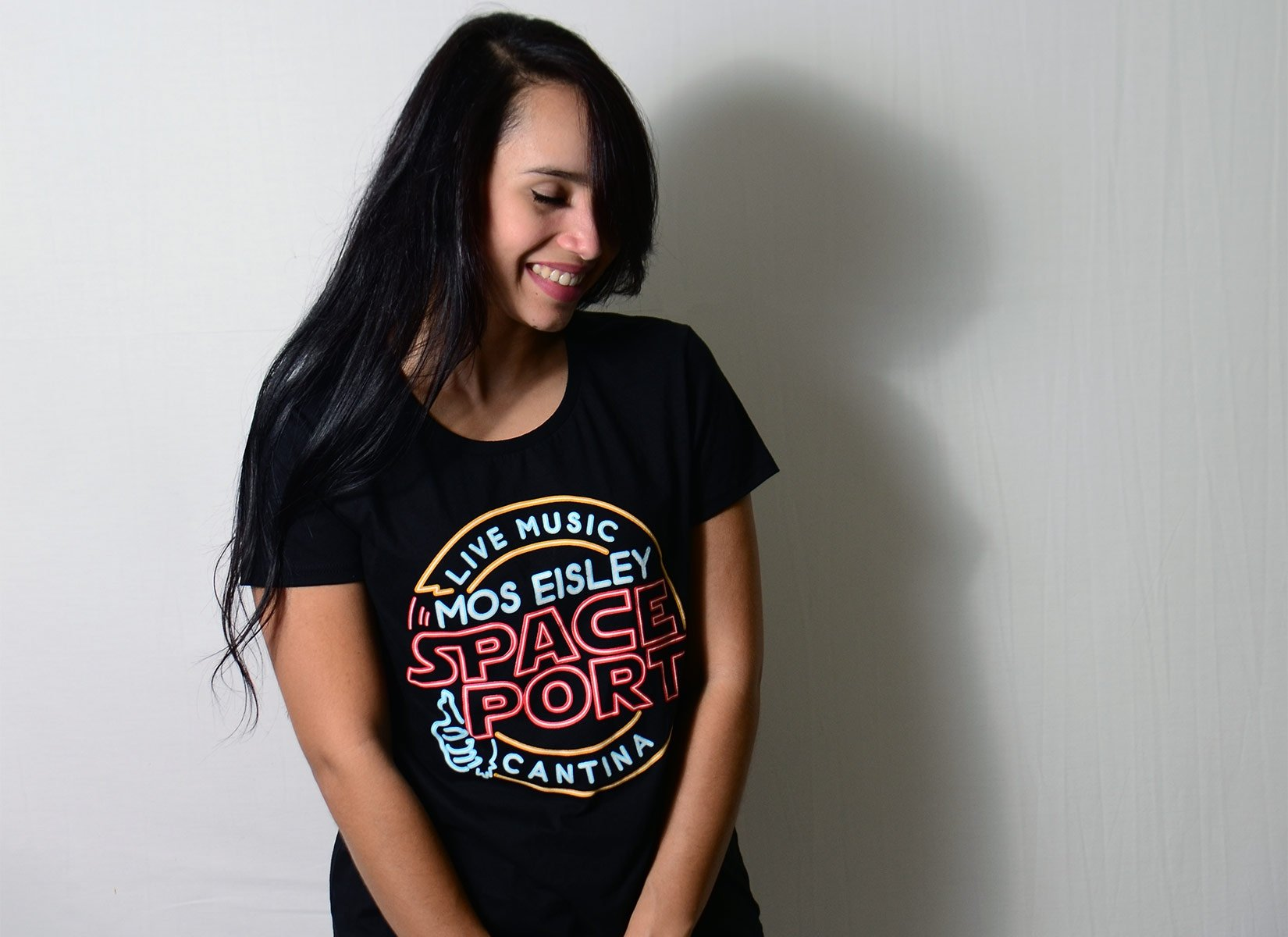 Mos Eisley Space Port on Womens T-Shirt