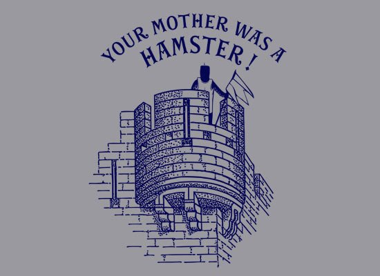 Your Mother Was A Hamster on Mens T-Shirt