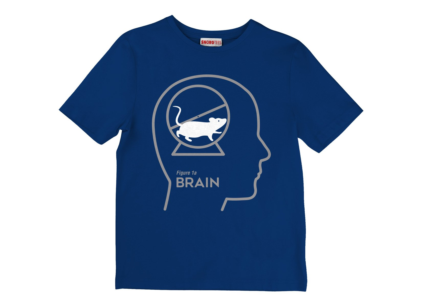 Mouse Wheel Brain on Kids T-Shirt