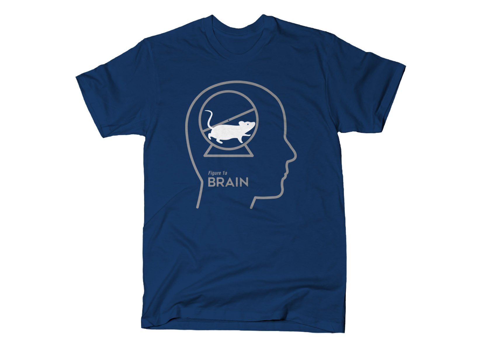 Mouse Wheel Brain on Mens T-Shirt