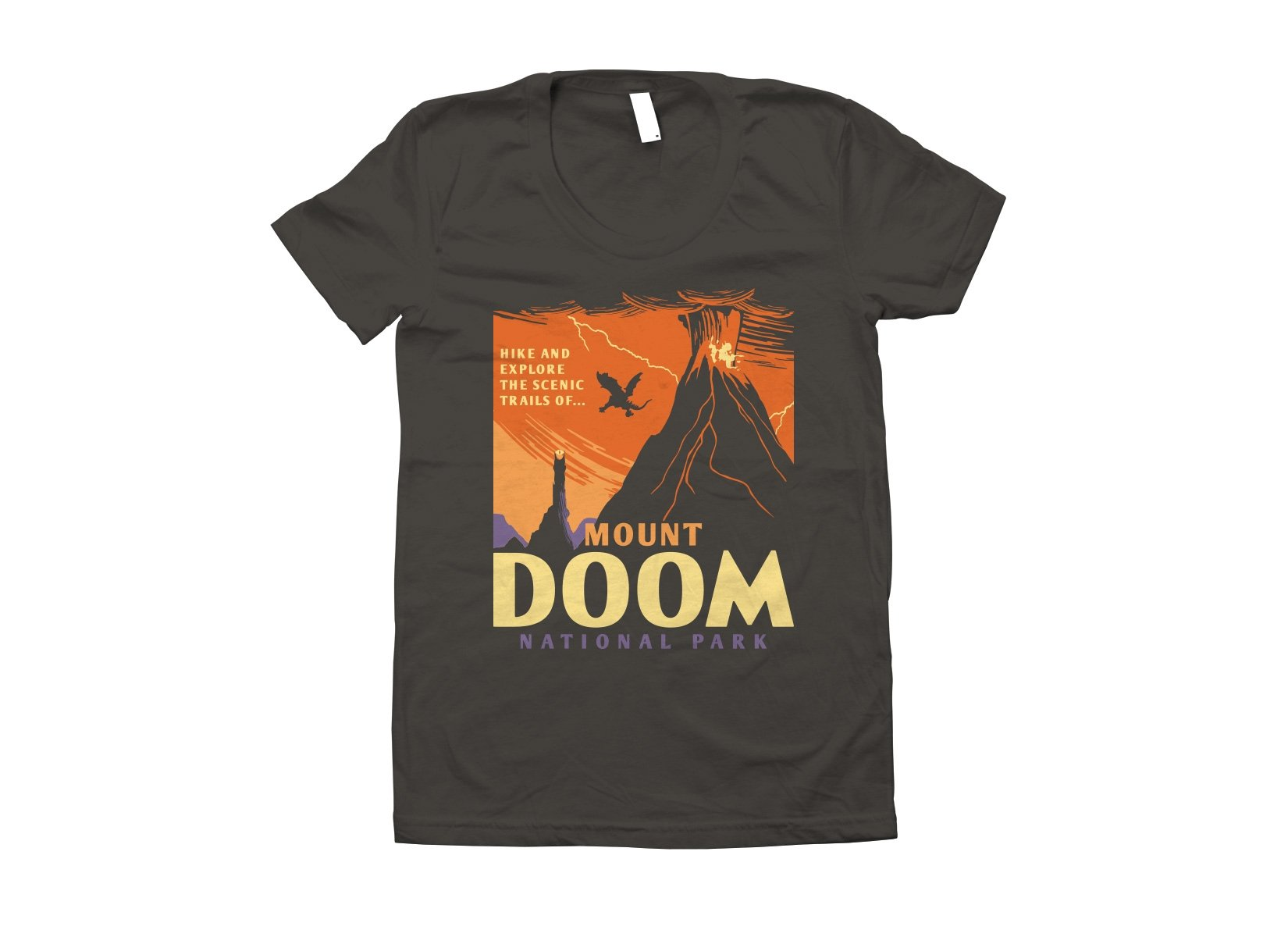 Mount Doom National Park on Juniors T-Shirt