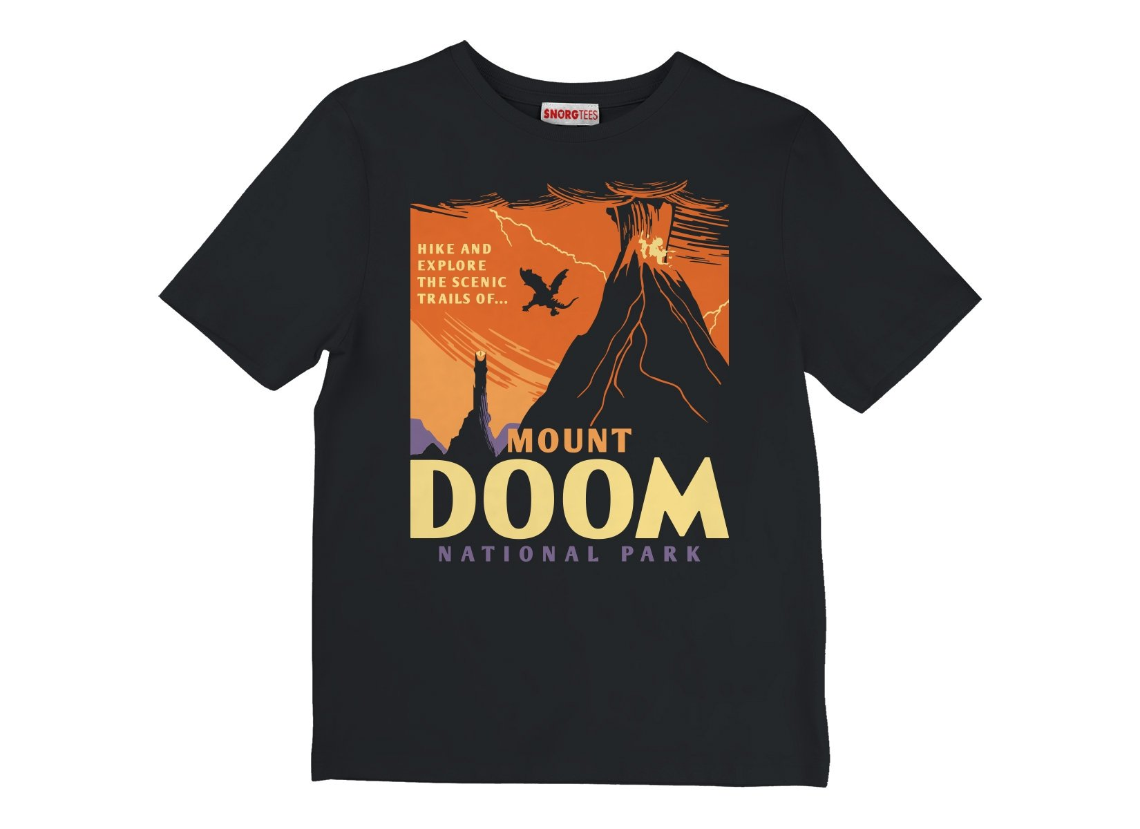 Mount Doom National Park on Kids T-Shirt
